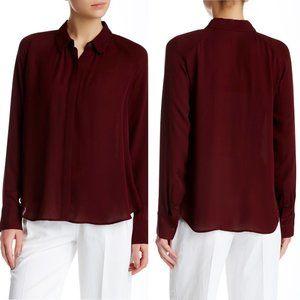 Rebecca Minkoff Size Small Silk Ellison Red Blouse